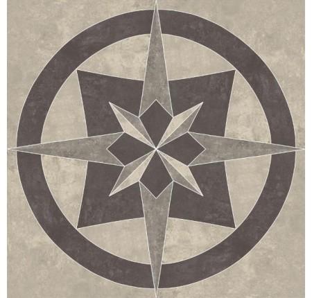 Декор напольный Paradyz Mistral Grys Rozeta Poler 80x80 (шт)