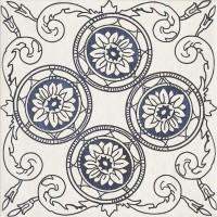 Плитка настенная Paradyz Sevilla Azul Gres Szkl. Struktura Dekor C 19,8x19,8 (м.кв)