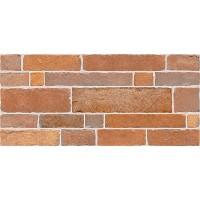 Плитка настенная InterCerama Brick красно-коричневая 022 23х50 (м.кв)