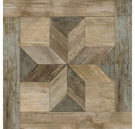 Плитка напольная InterCerama Listo темно-коричневая 032 43х43 (м.кв)