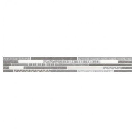 Бордюр вертикальный InterCerama Palmira серый 071 7х60 (шт)
