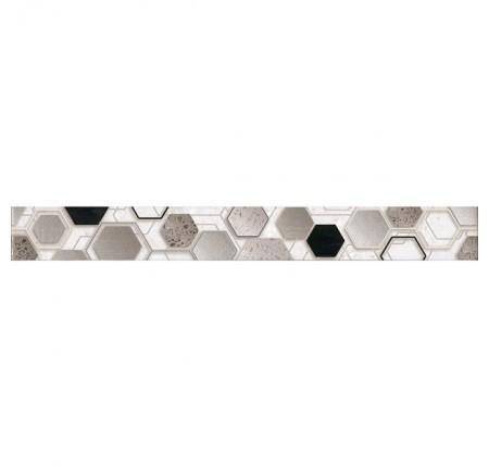 Бордюр вертикальный InterCerama Techno 071 серый 7х60 (шт)