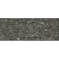 Плитка настенная InterCerama Techno чёрный 082/Р рельеф 23х60 (м.кв)
