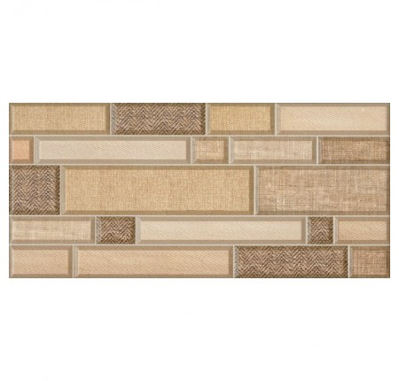 Плитка настенная InterCerama Textile коричневая 031 23х50 (м.кв)