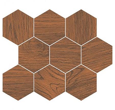 Настенный декор Opoczno Finwood Mosaic Ochra Hexagon 28x33,7 (шт)