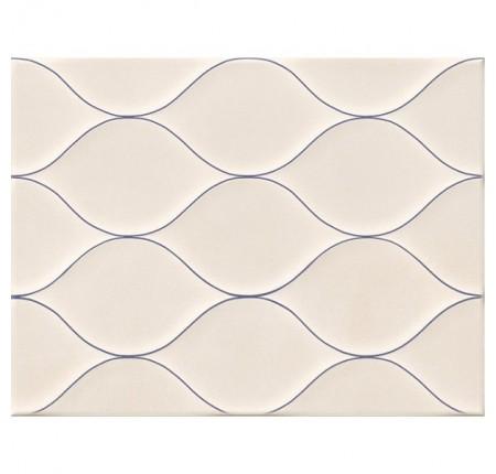 Плитка настенная Golden Tile Isolda Контур рельеф светло-бежевая 25х33 (м.кв)