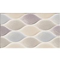 Плитка настенная Golden Tile Isolda Mix рельеф светло-бежевая 25х33 (м.кв)