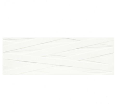 Плитка настенная Paradyz Elia Bianco Struktura B Rekt. 25x75 (м.кв)