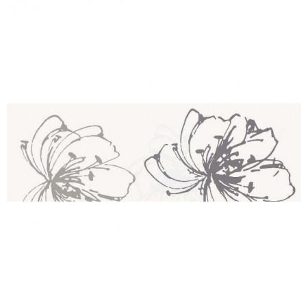 Декор настенный Paradyz Midian Bianco Inserto Kwiat A 20x60 (шт)