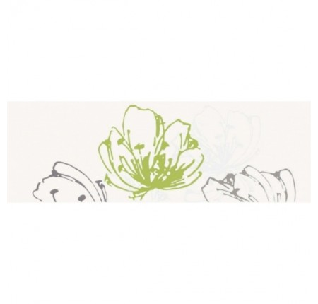 Декор настенный Paradyz Midian Verde Inserto Kwiat 20x60 (шт)