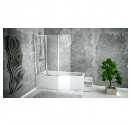 Ванна асимметричная Besco Integra 170x75 L/R