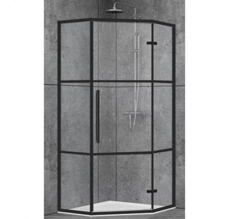 Душевая кабина Dusel Deluxe Series DL197HBP Black Matt Paint 100x100x190,стекло прозрачное