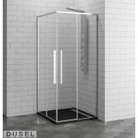 Душевая кабина Dusel Deluxe Series DL194 Chrome 90x90x190,стекло прозрачное