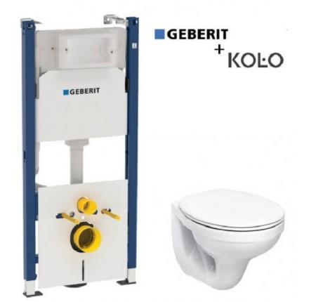 Набор Geberit 458.126.00.1 инсталляция+Kolo Idol М1310000U, сиденье полипропилен