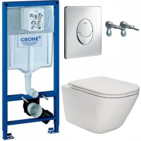 Набор Grohe Rapid SL 38721001 с унитазом Roca Gap Clean Rim A34H470000 Slim Soft-Close