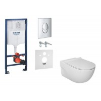 Набор Grohe Rapid SL 38721001 с унитазом Roca Meridian Rimless A34H240000 Slim Soft-Close