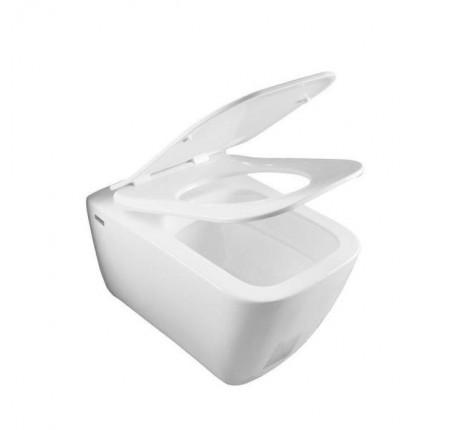 Унитаз подвесной Idevit Halley Iderimless (SETK3204-2616-001-1-6000) и крышкой Ultra Slim Soft Close