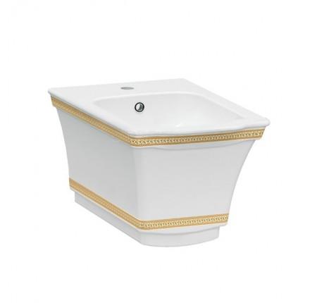 Биде подвесное Idevit Neo Classic (3306-0605-0088) декор золото