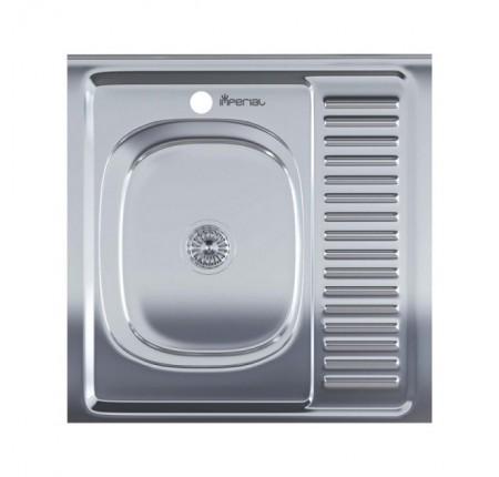 Мойка для кухни Imperial 6060-L (0,6мм) Satin