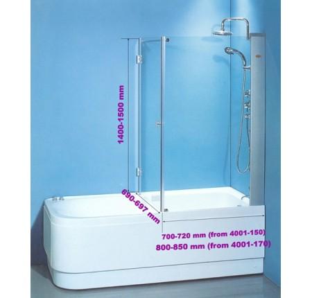 Шторка для ванны KO&PO 7047/У (70) 700x1400мм