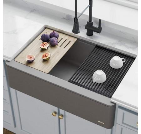 Мойка для кухни KRAUS KGF1-30CHARCOAL