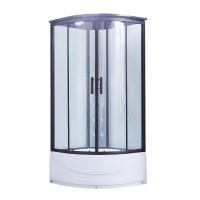 Гидромассажный бокс Lidz Majatek SBM90x90.BLA.HIGH.TR, высокий, стекло прозр. 5мм + стенки WHI