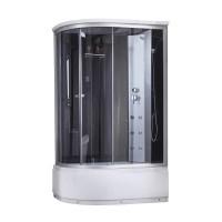 Гидромассажный бокс Lidz Tani SBM120x80R.SAT.HIGH.GR, высокий, стекло тонир. 4мм + стенки BLA