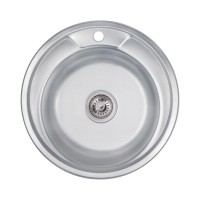 Мойка для кухни Lidz 490-A 0.6мм Decor