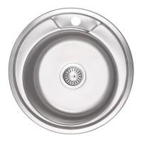 Мойка для кухни Lidz 490-A 0.6мм Micro Decor