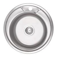 Мойка для кухни Lidz 490-A 0.8мм Micro Decor 180