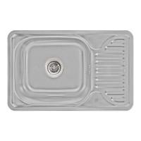 Мойка для кухни Lidz 6642 0.8мм Micro Decor (180)