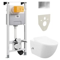 Комплект Free Rim Off + бидетка + сиденье + инсталл OLI 120 PLUS + кнопка SLIM хр (FE322.005+099949)