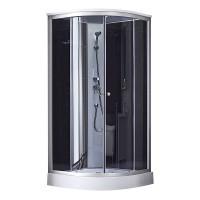 Гидромассажный бокс Q-tap SB9090.1 SAT(BLACK/GREY) 90x90x213