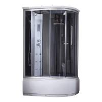 Гидромассажный бокс Q-tap SBM12080.2L SAT(BLACK/GREY) 120x80x215