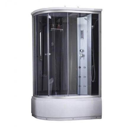 Гидромассажный бокс Q-tap SBM12080.2R SAT(BLACK/GREY) 120x80x215