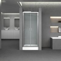 Дверь в нишу Q-tap Gemini CRM209.C6, стекло 6мм Clear, покрытие CalcLess, 90x190, распашная 180