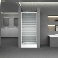 Дверь в нишу Q-tap Pisces WHI208-9.CP5, стекло 5мм Pattern, регулир. профиль 79-92x185, распашная
