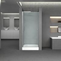 Дверь в нишу Q-tap Presto CRM208.P5, стекло 5мм Pear, 80x185, распашная
