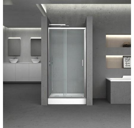 Дверь в нишу Q-tap Taurus CRM201-11.C6, стекло 6мм Clear, CalcLess, рег. проф. 97-108x185 см, раздвиж.