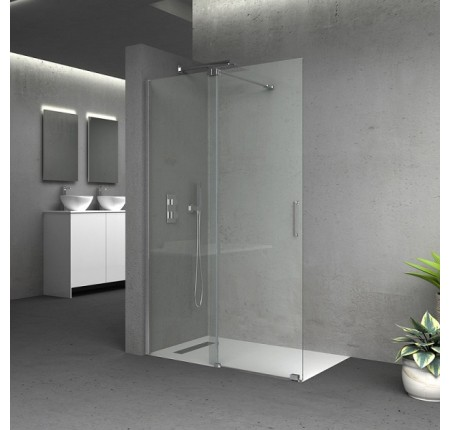 Стенка Q-tap Walk-In Glide CRM2012.C8, стекло 8мм Clear, покрытие CalcLess, 120x190, раздвижная