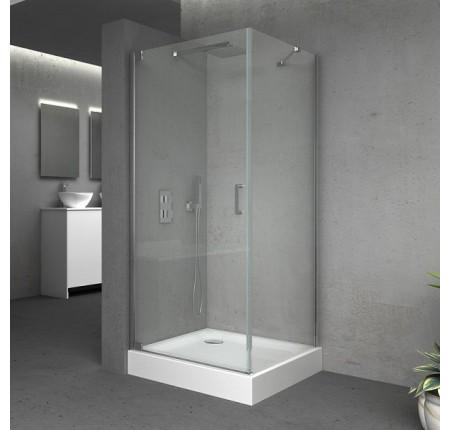 Душевая кабина Q-tap Aquarius CRM1099SC6, квадрат, 90x90, стекло 6мм Clear, распаш., без поддона