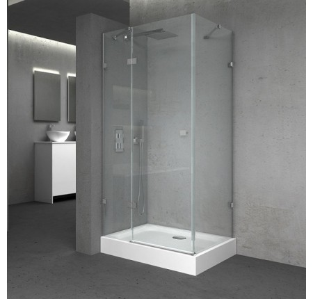 Душевая кабина Q-tap Capricorn CRM1011SC6, квадрат, 100x100, стекло 6мм Clear, распаш., без поддона