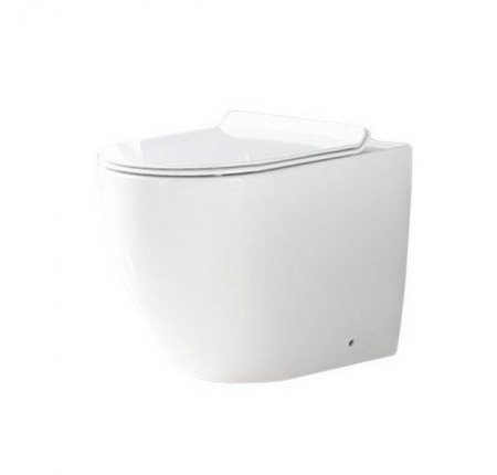 Унитаз приставной Rea Carlo Rimless, сиденье дюропласт soft-close (REA-C4600)