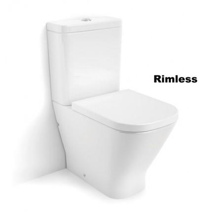 Унитаз-компакт напольный Roca GAP Rimless A34D738000 с крышкой Soft close