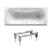 Ванна стальная Roca Princess A220270001 170x75 с ручками, с ножками