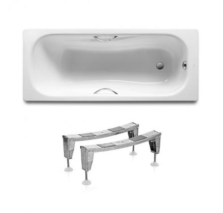 Ванна стальная Roca Princess A220470001 150x75 с ручками, с ножками