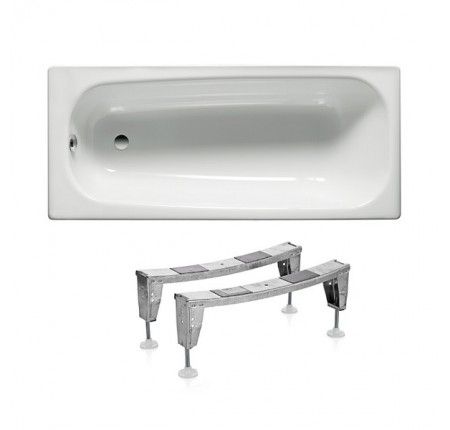 Ванна стальная Roca Contesa A236060000 150x70, с ножками