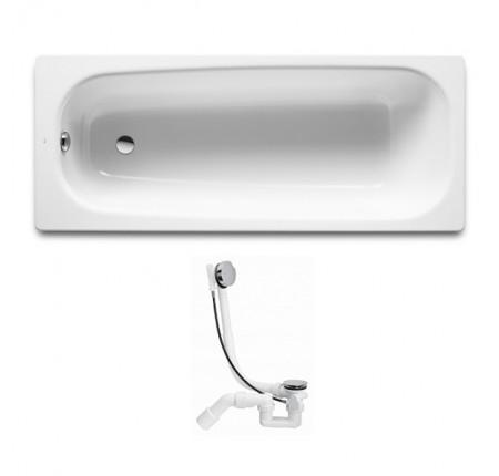 Ванна чугунная Roca Continental A21291100R 170*70см + сифон Simplex