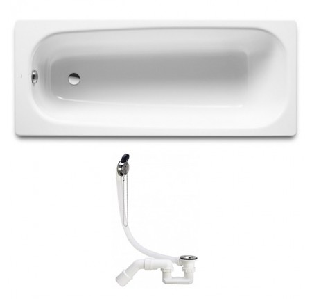 Ванна чугунная Roca Continental A21291200R 160*70см + сифон Simplex 311537
