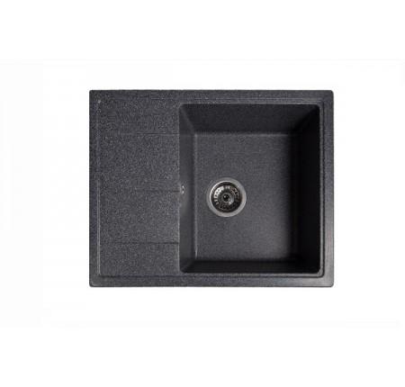 Мойка для кухни Solid Силика (чёрный) 580x470mm